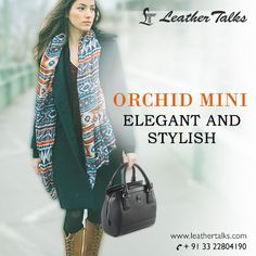 Carry the Orchid Mini with élan to add a little spark to your fashion statement. This handy bag, though moderate in size, ensures enough space for your essentials. Hold it with a firm grip over the leather handles and feel more stylish and confident. #minihandbag #blackorchidhandbag http://leathertalks.com/product/orchidminin/