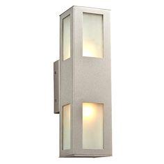 Tessa Silver Two Light Outdoor Wall Mount Fixture Plc Lighting Wall Mounted Outdoor Outd