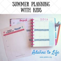 Summer Planning With Kids + Freebie Friday Printable Staying organized during the summer months Printable Planner, Planner Stickers, Free Printables, Summer Fun, Summer Months, Mindful Parenting, Easy Diy Crafts, Getting Organized, Writing Prompts