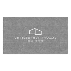 519 best real estate business cards images on pinterest real modern home logo on linen for real estate realtor business card reheart Choice Image