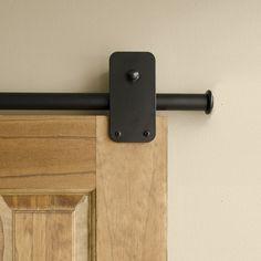 Black Plato Single Rolling Door Kit - Up to / 4 Feet (Includes 2 Supports) Patio Door Coverings, Track Door, Laundry Room Remodel, Bathroom Doors, Master Bathroom, Bathroom Ideas, Door Kits, Basement Renovations, Single Doors