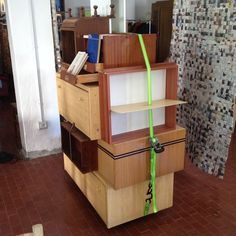 container-unit made with used parts of old furniture. for akrat-recycling-cooperative, bolzano/bozen, italy, june 2014