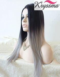 K'ryssma Natural Looking Ombre Grey Dark Roots Synthetic ... https://www.amazon.co.uk/dp/B019K4K64G/ref=cm_sw_r_pi_dp_SZ0wxbP6M7KXB