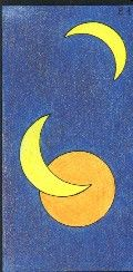 21- LES TROIS LUNES - Carte NEUTRE Personnalité : Personne lunatique. Personne romantique. Personne qui a des manies, de grosses habitudes. http://othoharmonie.unblog.fr/category/oracle-ge/