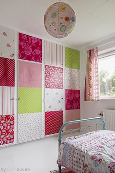 LOVE this patchwork wall!   -the boo and the boy: girls' rooms
