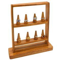 Jewelry Displays, Ring Displays, & Earring Displays Gems on Display - Eight Cone Ring Display