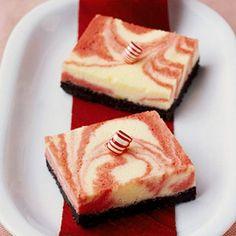 swirls-of-peppermint cheesecake bars