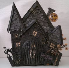 Gothic Halloween mini album for a friend Wild Orchid Crafts DT project