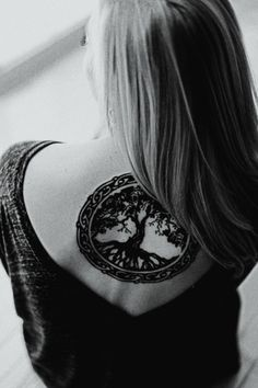Celtic Tree of Life Tattoo I'm gonna get a celtic tribal style chest/back piece, with a knot tree of life over my heart and a crow on my back, among other things