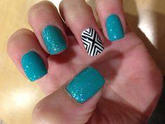 #blue-green #nails