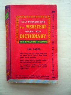 Self-pronouncing New Webster's pocket size Dictionary and spelling helper 1943