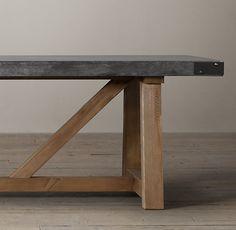 Salvaged Wood & Concrete Beam Rectangular Dining Table 72 L X 40 W X 30 H $2515