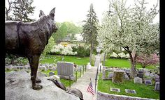 The War Dog Memorial at Hartsdale Pet Cemetery was dedicated in 1923 to honor the military working dogs that served in World War I and all succeeding conflicts. The War Dog Memorial - believed to be the first memorial of its kind - is designated as a landmark in Westchester County and is listed in the Art Inventories Catalog of the Smithsonian Institute.