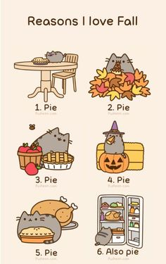Pusheen loves Fall.