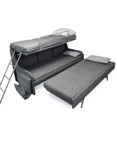 Wish I could figure out a way to put this on a skoolie! a built in version Italian-Sofa-bunk-bed-triple-sleep-system-expand-furniture Murphy Bunk Beds, Murphy Bed Ikea, Cool Bunk Beds, King Sofa Bed, Sofa Bed Sleeper, Sofa Beds, Bed Couch, Bedroom Couch, Teen Bedroom
