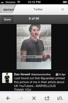 R.I.P Danisnotonfire (Daniel Howell depending on what time u see this)