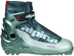 Alpina S Combi Sport Series CrossCountry Nordic Ski Boots SilverCharcoal 35 -- Click image for more details. This is an Amazon Affiliate links.