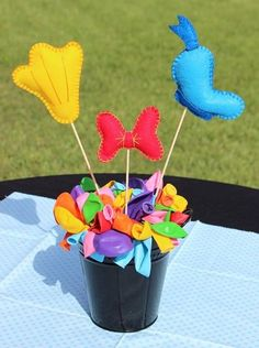 Donald Duck Themed Centerpiece by southernladygifts on Etsy