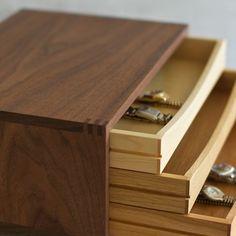 Muhs Home - Tricolor Wood Desktop Chest