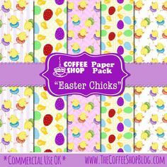 "FREE CoffeeShop ""Easter Chicks"" Digital Paper Pack -CoffeeShop"