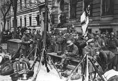 Freikorps during the Kapp Putsch in Berlin.