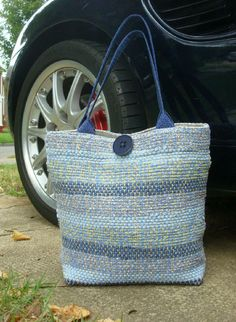 Handwoven handmade Tote Purse Travel Market Bag by FrederickAvenue #handweaversofetsy #buyfromwomen