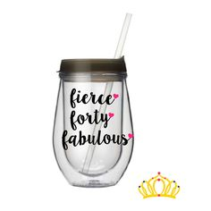 40th Birthday wine tumbler, 40th Birthday Gifts for Women, 40th birthday wine glass, Funny 40th Birthday Gift for Her by DashofFlair on Etsy
