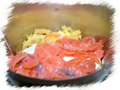 Pâtes au saumon au Thermomix