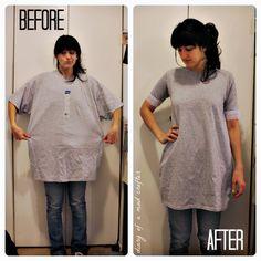DIY tshirt--> dress