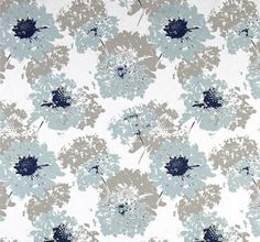 Custom Fabric Shower curtain Fairy Spa Blue Taupe by HomeandHome