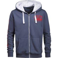 #Dunkelblauer #Kapuzenpullover mit Zipper ab 34,99€. Hier kaufen: http://stylefru.it/s543020 #Alltag #Lässig