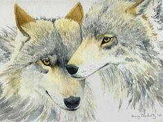 wildlife art gallery watercolor paintings by wildlife artist Nancy Overholtz
