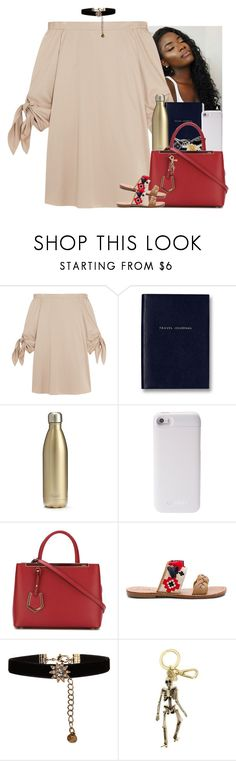 """""""You're my equivalent🏹"""" by mxnvt ❤ liked on Polyvore featuring TIBI, Smythson, S'well, PhunkeeTree, Fendi, Soludos, Accessorize and Alexander McQueen"""