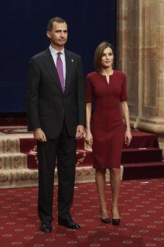 MyRoyals:  Princess of Asturias Awards 2015, Day 2, October 23, 2015-King Felipe and Queen Letizia, in Carolina Herrera
