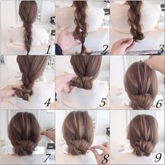 Easy twist and plait hairstyle Hairstyles Haircuts, Pretty Hairstyles, Hair Arrange, Great Hair, Hair Day, Hair Hacks, Short Hair Styles, Hair Cuts, Hair Beauty