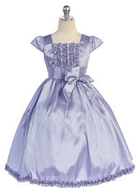 Flower Girl Dresses -   Girls Dress Style 732- Satin Sleeveless Dress with Ruched Bodice