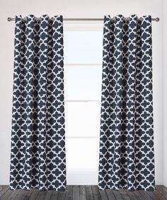 Indigo Neptune Curtain Panel - Set of Two #zulily #zulilyfinds