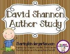 David Shannon Author Study by Sharing Kindergarten Preschool Science, Literacy Activities, Reading Activities, Readers Workshop Kindergarten, Montessori Kindergarten, Reading Comprehension Games, No David, Bad Case Of Stripes, Library Lessons
