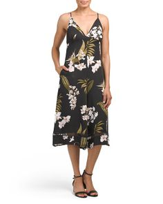 Tropical Print Gaucho Jumpsuit