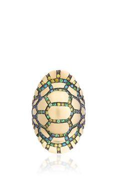 Rainbow Tortuga Ring by Venyx for Preorder on Moda Operandi