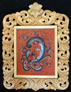 Acanthus frame by Else Bigton