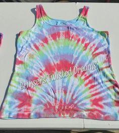 Tie Dye- Ladies Tank Top- Size 2XL- Sleep wear- Pastel- Undershirt- Rainbow Christmas Gift- Cheap Christmas Gift- Sleeveless Tee-shirt by BrinserTwistedDreams on Etsy