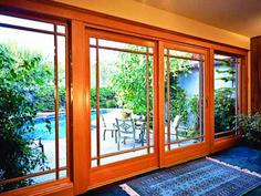 Patio doors by Milgard Windows and Doors. French Patio, French Doors Patio, Sliding Patio Doors, Sliding Glass Door, Glass Doors, Classic Window, Balcony Doors, Window Repair, Exterior Doors