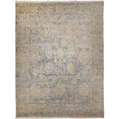 This transitional rug features traditional floral shapes surrounded by an erased border. It combines blues, pinks, and browns. Its hand-knotted construction brings unique character to any space. Contemporary Rugs, Modern Rugs, Cheap Rugs, Indian Rugs, Transitional Rugs, Rug Shapes, Hand Knotted Rugs, Handmade Rugs, Blue Area Rugs