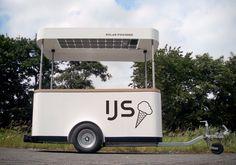 modern icecream cart