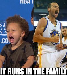 Steph Curry and his daughter, Riley! #Warriors - http://nbafunnymeme.com/nba-memes/steph-curry-and-his-daughter-riley-warriors:
