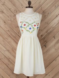 Altar'd State Embroidered Front Dress