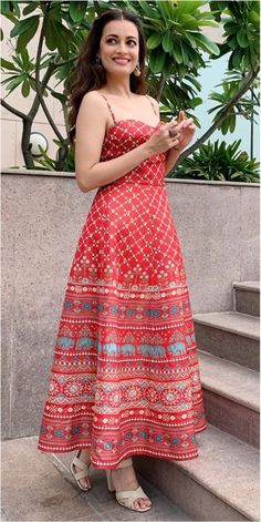 Anita Dongre red dress worn by Dia Mirza Contact our Stylist for any queries or .,Anita Don. Anita Dongre red dress worn by Dia Mirza Contact our Stylist for any queries or . Indian Party Wear, Indian Wedding Outfits, Indian Outfits, Anita Dongre, Dia Mirza, Party Wear Dresses, Casual Dresses, Fashion Dresses, Dress Indian Style