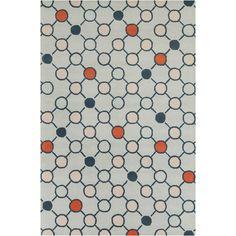 Chandra Stella Patterned Contemporary Wool Gray Area Rug   AllModern