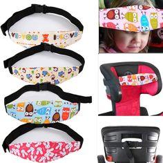 1.89AUD - Adjustable Safe Car Seat Headrest Kid Baby Sleeping Pad Strap Belt Child Nap Aid #ebay #Home & Garden